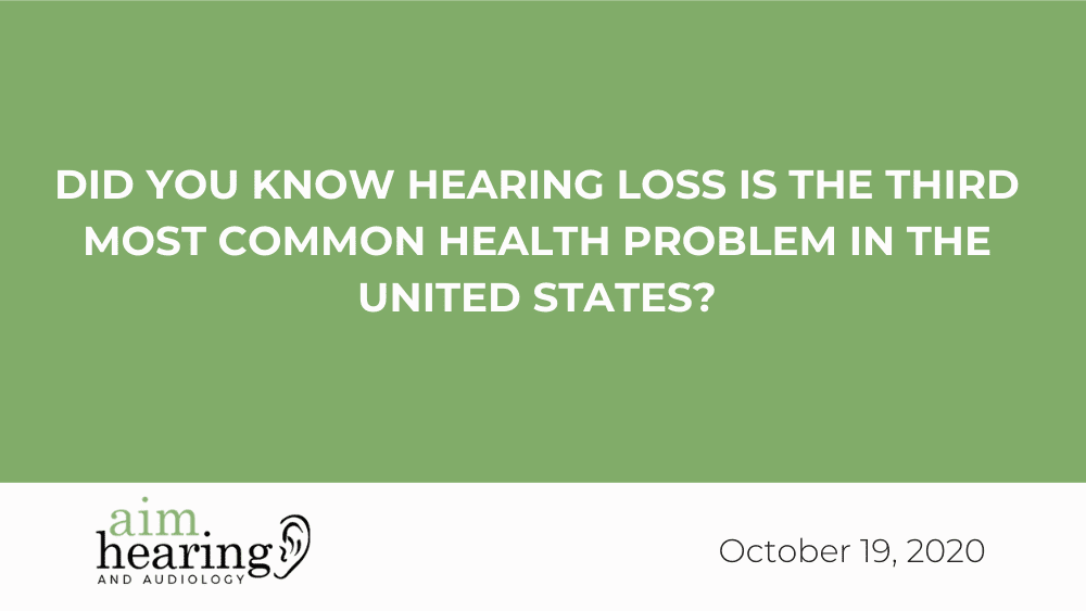 Did you Know Hearing Loss is the Third Most Common Health Problem in the United States?